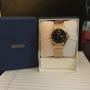 Men's Seiko Gold Plated Watch...Brand New
